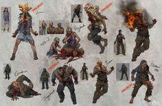 Apocalypse World, Post Apocalypse, Zombie Cosplay, Zombie Illustration, Monster Concept Art, Pokemon, Zombie Art, Horror Monsters, Monster Design