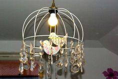 Vogelleuchter / Bird chandelier / Upcycling