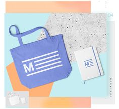 Fabric Bag and Notebook Mockups