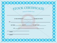 Occupational Certificate Template  Occupational Certificate