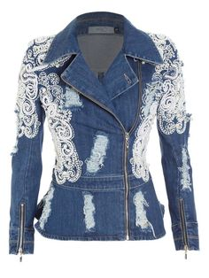 Denim Fashion, Boho Fashion, Fashion Outfits, Jeans Recycling, Look Blazer, Mode Jeans, Denim Ideas, Jeans Denim, Embellished Jeans