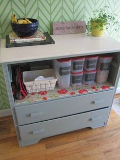 Craft, Interrupted: Makeover Monday ~ Upcycled Dresser to Kitchen Buffet