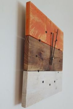 Wall Clock, Wooden Wall Clock, Reclaimed Wood Wall Clock, Wall Clock, Pallet Wood Clock, Square Clock, Rustic Clock, Shabby Chic Clock by SpudsCreativeAsylum on Etsy https://www.etsy.com/listing/273035396/wall-clock-wooden-wall-clock-reclaimed
