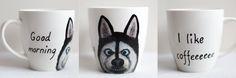 Husky; hand-painted mug, 370ml / Kristi Palm Art