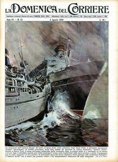 Le Kraken, Andrea Doria, Hms Hood, Abandoned Ships, Shipwreck, Ship Art, Vintage Travel Posters, Water Crafts, Old World