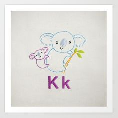 K Koala Art Print by Penguin & Fish - $17.00