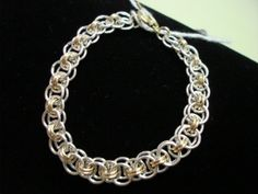 Free Chainmail Patterns Chain Maille | Parallel Chain Maille Bracelet with Sterling Silver & Gold Filled Jump ...