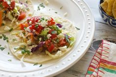 Pinto Bean Tacos with Cabbage Slaw and Feta