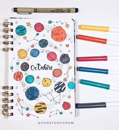 25 Creative Galaxy Themed Bujo Spreads 25 of the best galaxy themed bujo spread for inspiration on your own bullet journal today! Bullet Journal Cover Ideas, Bullet Journal Notebook, Bullet Journal School, Bullet Journal Inspo, Bullet Journal Spread, Bullet Journal Layout, Journal Covers, Book Journal, Journal Ideas
