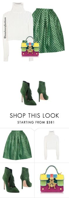 """""""church outfits"""" by noulovesfashion ❤ liked on Polyvore featuring Oscar de la Renta, Calvin Klein Collection, Anna F. and Giancarlo Petriglia"""