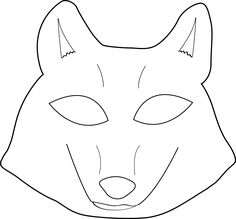 Here's a wolf mask pattern if you feel like creating a few woodland mysteries today:
