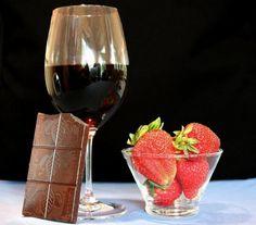Chocolate y vino, buena combinación de sabores. Wine and chocolate- what a combination of flavours!