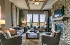 Ambassador - Heritage Oaks at Pearson Place by Pulte Homes - Zillow Pulte Homes, Living Room Goals, Living Rooms, Austin Homes, New Home Communities, New Home Builders, New Homes For Sale, House Floor Plans, Smart Home