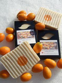 KUMQUAT with COCONUT MILK Fresh Creamy Citrus Handmade Soap Bar.