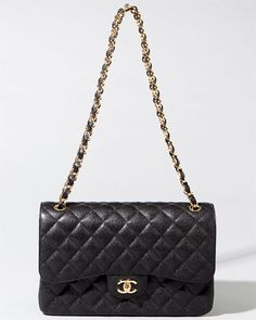 0d41d14d2a6e Chanel Jumbo Black Caviar Quilted Classic Double Flap Bag