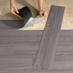 Update those ugly floors with vinyl plank flooring. 37 RV Hacks That Will Make You A Happy Camper Peel And Stick Wood, Vinyl Plank Flooring, Wood Flooring, Floors, Vinyl Planks, Basement Flooring, Wood Planks, Linoleum Flooring, Bathroom Flooring
