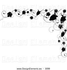 Clipart Black And White Ornate Rule And Border Design Elements 1 ...