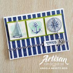 Stampin' Up! Come Sail Away Suite   Angela Meiritz-Reid   TGIFC 215   COLOUR CHALLENGE