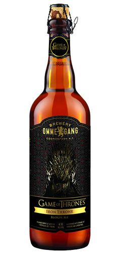 Game of Thrones Beer    If Game Of Thrones was a reality show, this HBO-branded beer would more likely be an ancient Mead served at room-temperature with sketchy floaters in it. But since the show is pure fantasy, Game Of Thrones beer is Ommegang breweries' Belgian blonde ale. Available nationwide March 2013.