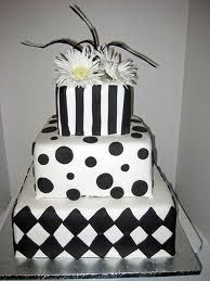 black and white wedding cakes - Google Search