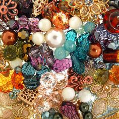 Vintage/topaz,amet,sage gr,crime,copper,steel blue,khaki,dusty aqua   PAC opal,silk,crystal copper,indicolite,khaki  Pearls in Di green,crime rose,dorado,lt amet
