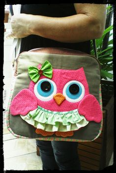 Blue Jean Purses, Owl Purse, Fabric Paint Designs, Owl Patterns, Kits For Kids, Patchwork Bags, Denim Bag, Girls Bags, Cool Pets