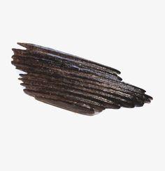 Modernist Black Plastic Pin, Brooch