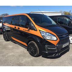 Lovely M-Sport Custom in today! Transit Camper, Ford Transit, Transit Custom, Custom Campers, Vanz, Van Wrap, Transporter, Custom Vans, Advertising Design