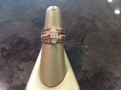 Chocolate and white diamonds in rose gold