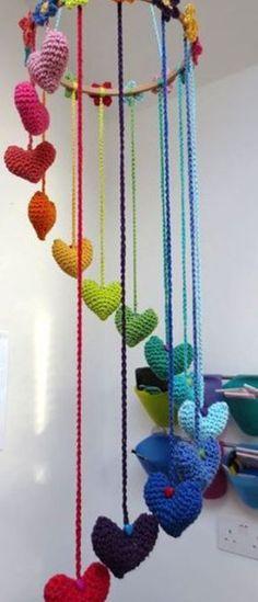 Crochet Patterns movil de corazones
