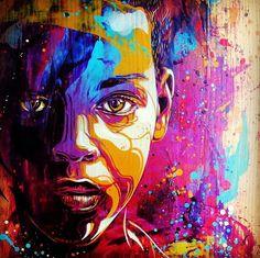 Street art by Christian Guemy