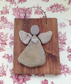 Lake Michigan Beach Rock Angel  For any Angel Collector  One