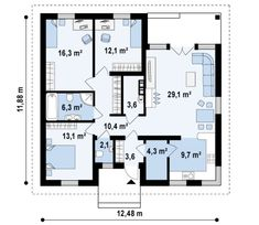 Palermo, House Plans, Floor Plans, How To Plan, Modern, Projects, Tiny Houses, Houses, Plants