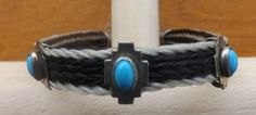 Aztec Inspired White Black Horse Hair Bracelet with Turquoise Silver Accents   eBay