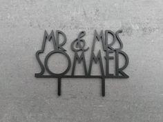 """Hochzeitsdeko - Cake Topper """"Mr & Mrs"""" Hochzeitst... - ein Designerstück von logo-cut bei DaWanda"""
