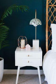 white West Elm nightstand