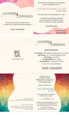 Distintas versiones de la misma invitación #bodaflamenca #bodasElRocio #bodasflamencas #bodas2015 #psgcreativa
