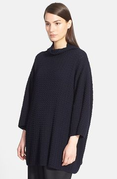 eskandar Funnel Neck Long Bubble Rib Knit Sweater available at #Nordstrom