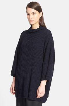 eskandar Funnel Neck Long Bubble Rib Knit Sweater available at #Nordstrom