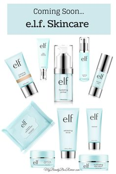 e.l.f. just sent out an email announcing their upcoming skin care line. We all know and love e.l.f. for their quality, affordable cosmetics. Now we can experience the full package!