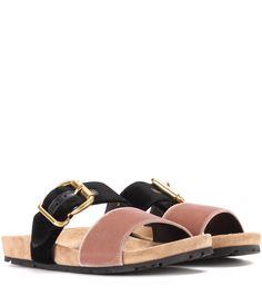 1d3bc9570ec3 Exclusive to mytheresa.com – Velvet sandals. Flat SandalsFlatsShoes ...