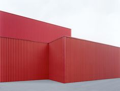 """""""Sachliches"""": Halle rot #2 by Josef Schulz via Archinect."""
