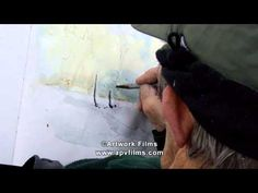 David is a great exponent of painting winter landscapes, particularly under snow. Filmed in the Brecon Beacons and North Staffordshire, we see him on a winte. Watercolor Video, Watercolour Tutorials, Watercolor And Ink, Watercolor Paintings, Watercolours, Painting Lessons, Art Lessons, Art Tutorials, Painting Tutorials