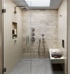 Phenomenal Bathroom Shower Tile Ideas, The tile ought to be installed around the shower space to make it stand out from different sections of the restroom. Phenomenal Bathroom Shower Tile I. Contemporary Shower, Contemporary Bathroom Designs, Modern Shower, Modern Contemporary, Bathroom Spa, Bathroom Wall Decor, Small Bathroom, Bathroom Ideas, Bathroom Modern