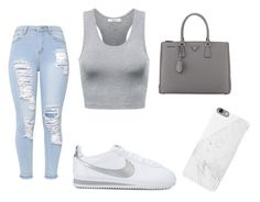 """""""First Day of school"""" by daylajd on Polyvore featuring NIKE and Prada"""