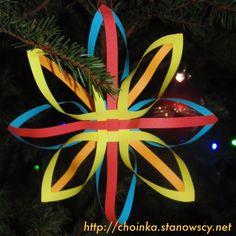 Gwiazdka klejona z pasków - Zabawki z naszej choinki