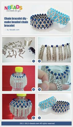 Chain Bracelet DIY - Make Beaded Chain Bracelet – Nbeads