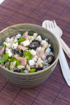 Insalata di orzo con tonno, olive e rucola - by Appetitosando