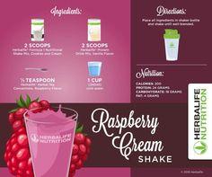 shake to lose weight herbalife Raspberry cream shake Herbalife Meal Plan, Herbalife Protein, Herbalife Shake Recipes, Herbalife Nutrition, Herbalife F1, Herbalife Motivation, Nutrition Club, Nutrition Shakes, Challenges