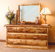This dresser would look very good in a log cabin or little house out on the countryside- its rustic and seems to be very in tune to a nature surrounding